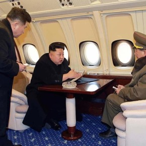 Kim Jong-un flies in private jet over Pyongyang to monitor building development